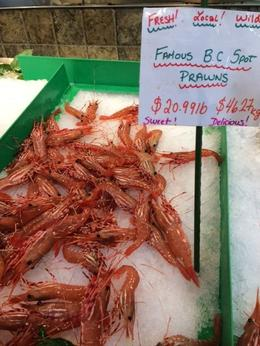 Spot Prawns that are local to BC and only available for a very short amount of time., taylor - July 2014