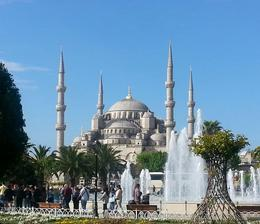 stop for photo op before heading to the Blue Mosque , Benjamin - May 2014