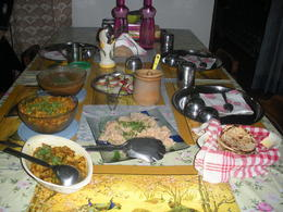 This is the dinner we ate. Yummy! , Kerk P - December 2013