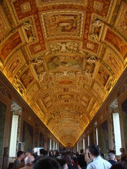 The ceiling of Gallery of Maps - June 2008