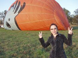 Bringing up the hot-air balloon at dawn., Tee Chong L - October 2008