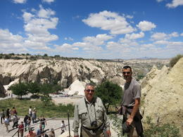 overlooking some of the Goreme Open Air Museum formations and churches, Patricia P - July 2014