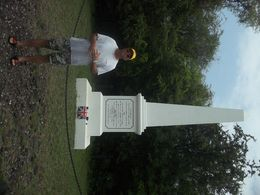 Dad gets to visit the memorial of one of his heros, Captain Cook. , Noreen H - August 2015