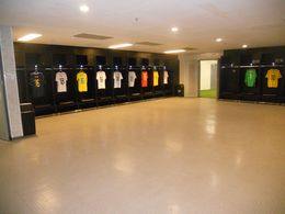 Famous jerseys line the locker room... , Christopher M - June 2015