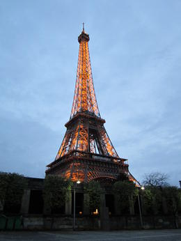 The Eiffel Tower looks great at night! , Daniel B - May 2011