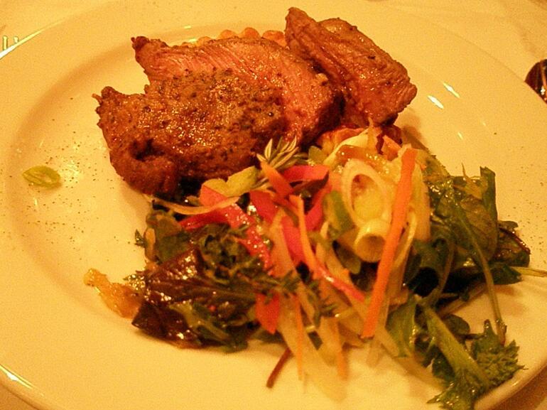 One of the main dish: lamb - Christchurch