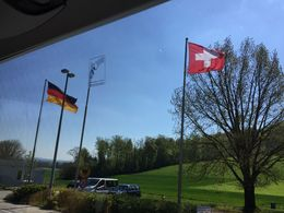 The German-Swiss border , Pabasari G - May 2016