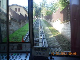 Our group took the train going up the mountain to the town of Orvieto , Leonila C - October 2012