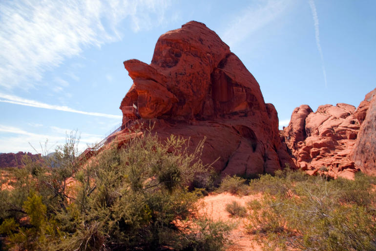 Valley of fire--The Funny Face - Las Vegas