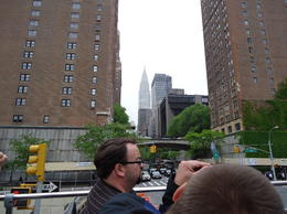 View of the Chrysler Building from the top of the bus. , Judith M - May 2012