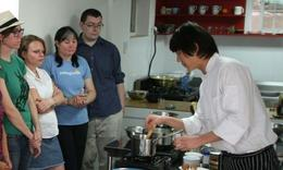 Learning how to make Korean dishes - June 2012