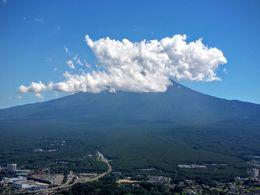 Le Mont Fuji depuis le point de vue en haut du téléphérique de Kawaguchiko. , Thomas S - August 2015