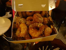 Greek Donuts, covered in honey, cinnamon and walnuts. , James M - September 2014