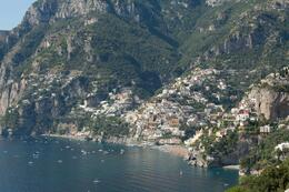 Positano as we were descending down towards it. , IRENE M - October 2011