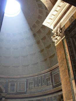 Sunlight streaming through the oculus inside the Pantheon, Rome, Cheryl N - June 2010