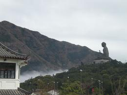 Looking back at Buddha from the cable car entrance., Emma R - March 2009
