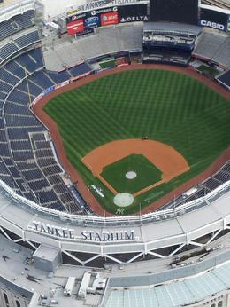 Looking into the Yankee Stadium - Private Tour: Helicopter Ride over New York , Richard B - October 2012