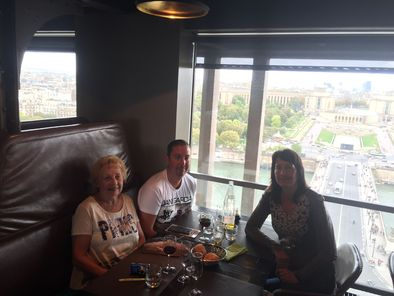 lunch at 58 restaurant enjoying our lunch at the eiffel tower photo