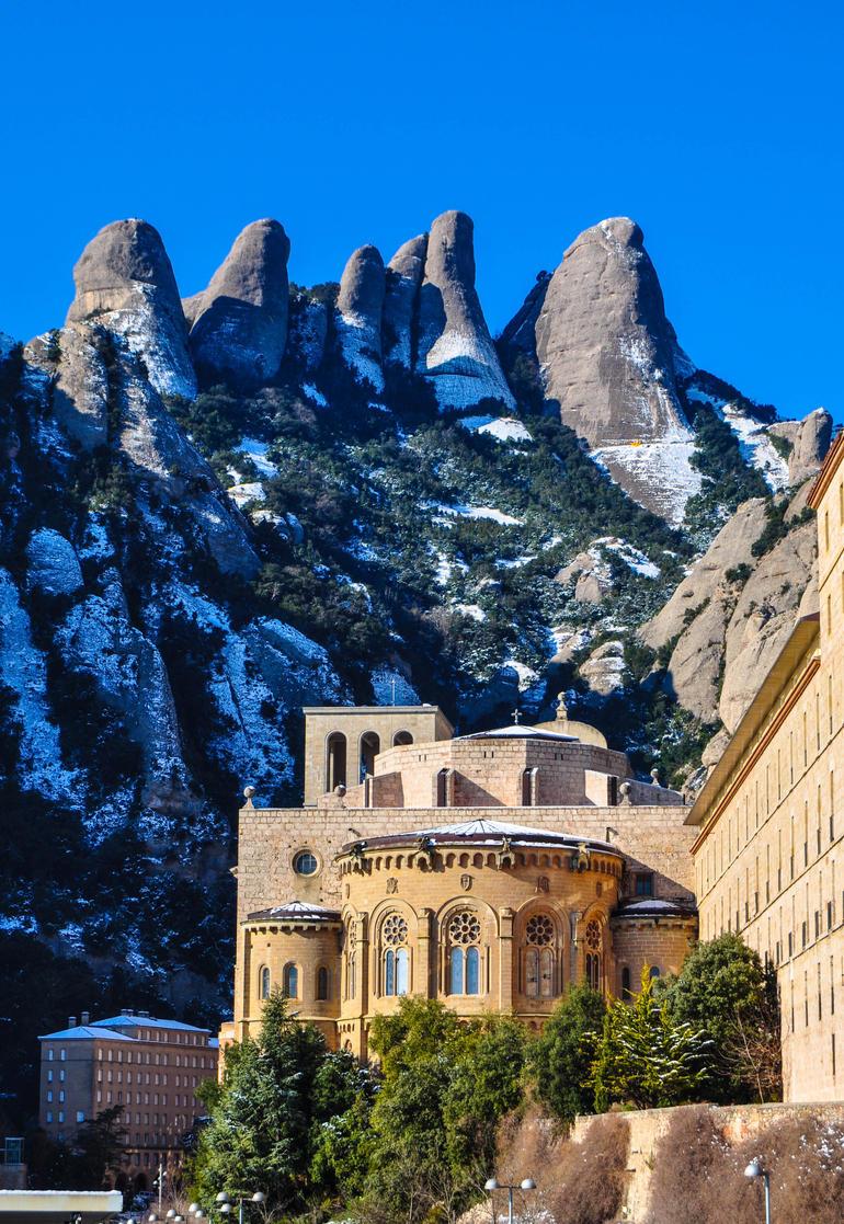 Montserrat, with snow - Barcelona