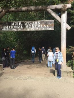 At the entrance to the Muir Woods trails , Carol C - September 2016