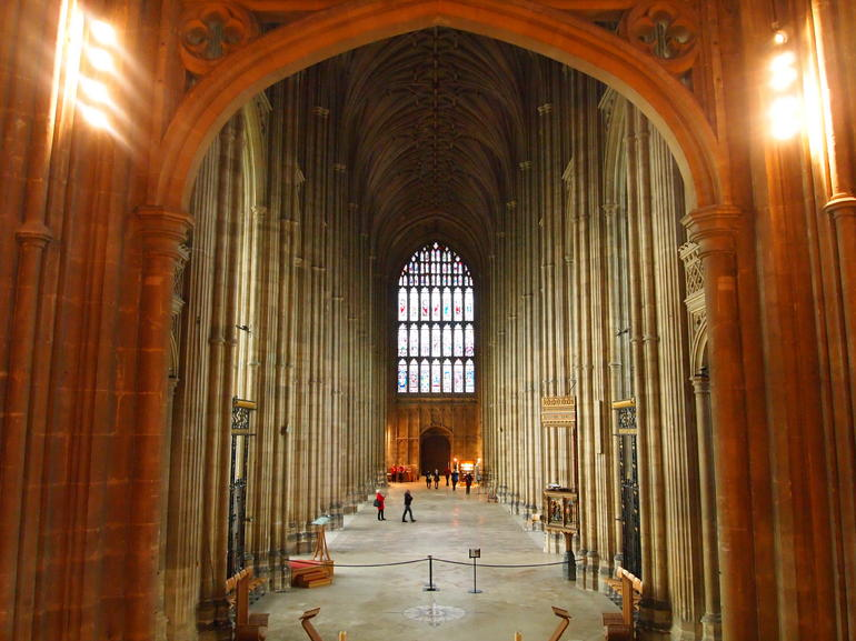 Interior of the Canterbury Cathedral - London