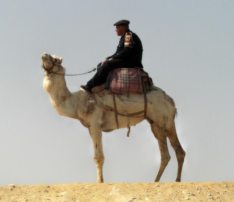 Policeman on a Camel - Cairo