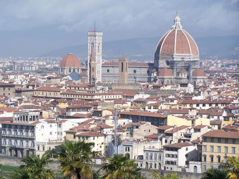 View from the top of the bus! - Florence