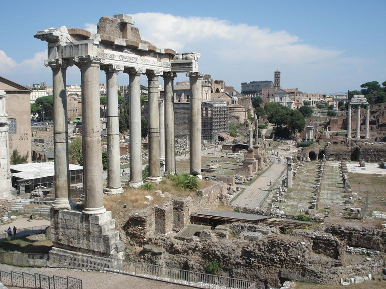 View of the Roman Ruins - Rome