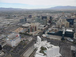 The picture shows the view of our hotel and part of the strip on our return flight. , spinky1970 - January 2015