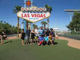 Photo stop at the famous Las Vegas Sign, VB Player2 - September 2013