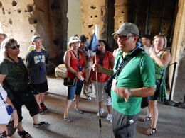 Davide is telling us about the interesting history about Colosseum. , Johan N - August 2015