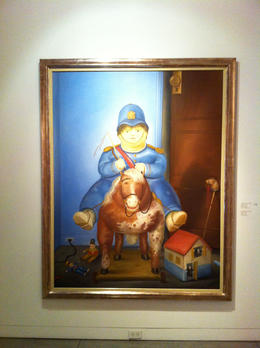 Another famous work by Botero - policeman on a toy horse., Bandit - September 2012