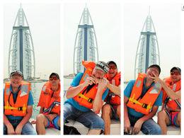 Me and my friend in front of Burj Al Arab , Petru Rosenthorn - April 2015