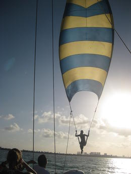 Spinaker fun , Angela M V - March 2012