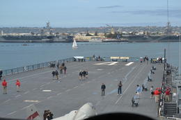 Forward Flight Deck as seen from the Bridge , Cathy T - April 2013