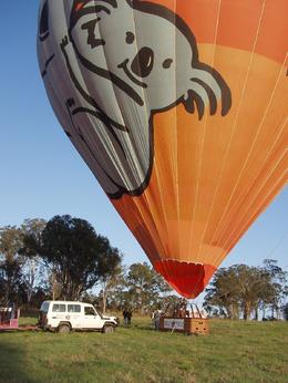 Just about ready to get on board our hot-air balloon, Tee Chong L - October 2008
