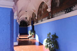 A hallways surrounding one of the main plazas inside the monastery, Bandit - July 2014