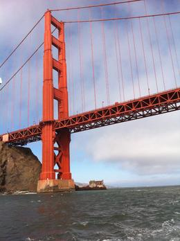 Golden Gate Bridge from bow of sailboat., Ray D - September 2010