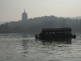 Wonderful to be out on the Lake in Hangzhou even in January! Hazy day, but lovely views. , Ann G - February 2016