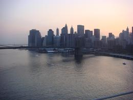 Manhattan skyline at sunset. - April 2008