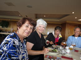 Judy and Karen, lifelong friends and former college roommates, at lunch , Jack H - November 2014