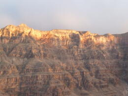 Sun setting on the canyon , Bev R - April 2012