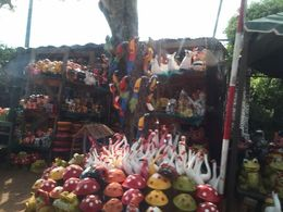 Pottery for Sale in Street Brimming with Pottery Stores , bri - June 2015
