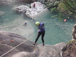 This is the mushroom descent very cool rappel right into a short zipline into the water. , Becky R - February 2016