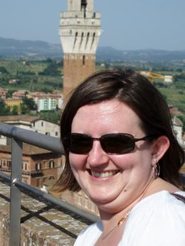 A picture or me in Sienna, Heather T - June 2009