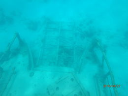 Sunken ship in barbados. , Markisha T - May 2016