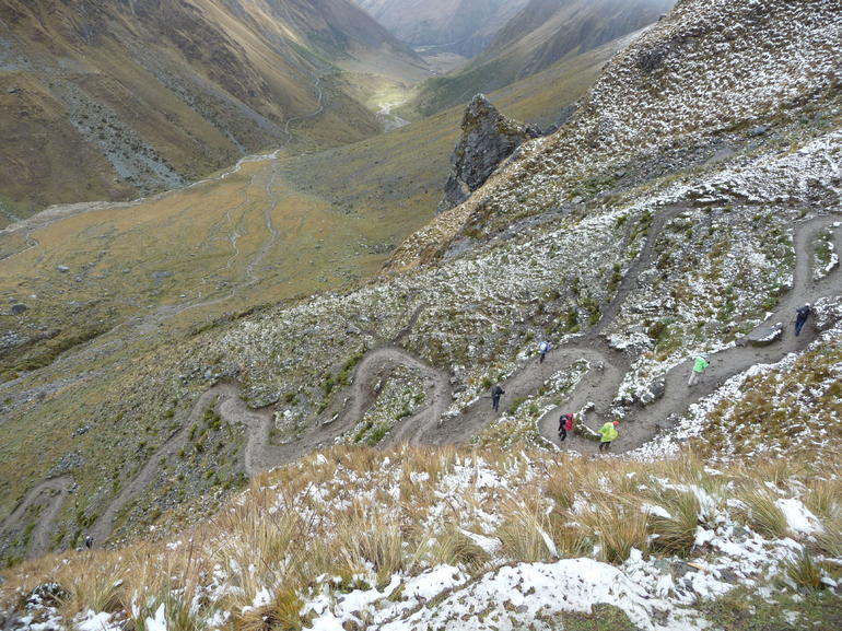 These switchbacks were tough but worth the view! - Cusco