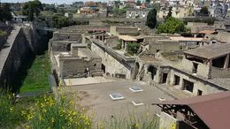just arriving at Herculaneum after viewing Pompeii earlier in the day. , Susan W - May 2016