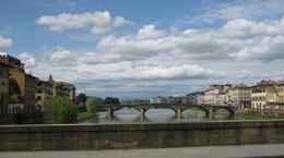 This famous bridge is lined end to end with jewellery shops and is the oldest and most famous bridge in Florence., Alison - May 2010