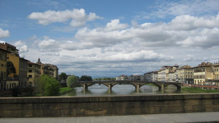 View of the Ponte Vecchio bridge - Florence